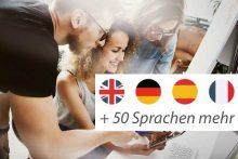 Besprechung im Team - Sprachkurse in mehr als 50 Sprachen buchbar