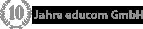 Symbol: 10 Jahre educom GmbH