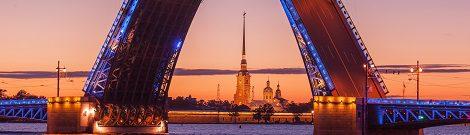 St. Petersburg offene Brücken - mit educom interkulturelle russische Kommunikation erlernen