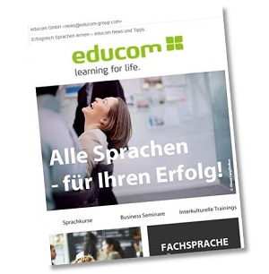 Screenshot vom Newsletter educom News